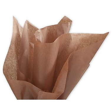 Bags & BowsMD – Papier de soie uni, 20 x 30 po, Sienne naturelle, 480 feuilles/paquet