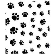 "20"" x 30"" Puppy Paws Tissue Paper, Black on White"