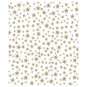 """Bags & Bows® 20"""" x 30"""" Gold Stars Tissue Paper, White, 240/Pack"""