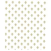 """20"""" x 30"""" Fleur-De-Lis Tissue Paper, White"""