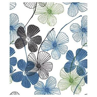 Papier de soie à bandes florales, 20 x 30 po, blanc, 200/paquet