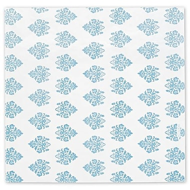 Papier de soie à motif en damas éclaté, 20 x 30 po, blanc, 200/paquet