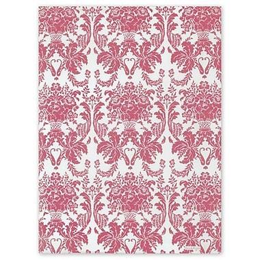 Papier de soie damas de chèvrefeuille, 20 x 30 po, blanc, 200/paquet