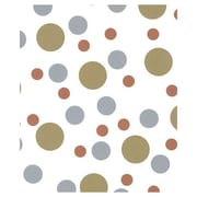 "20"" x 30"" Metallic Dots Tissue Paper, White"