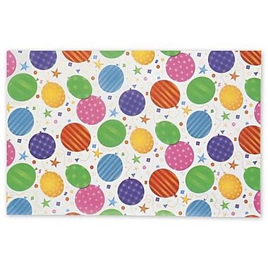 Papier de soie avec motifs de ballons, 20 x 30 po, blanc, 200/paquet