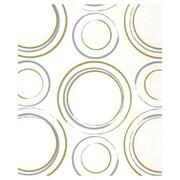 """20"""" x 30"""" Metallic Circles Tissue Paper, White"""