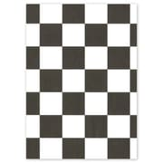 """Bags & Bows® 12"""" x 12"""" Check Food Grade Tissue Paper, Black/White, 1000/Pack"""