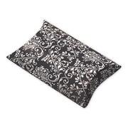 """Polyethylene Terephthalate 1""""H x 3""""W x 3.5""""L Damask Favor Pillow Boxes, Lime/White, 12/Pack"""