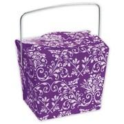 "2 1/2"" x 2"" x 2 3/4"" Damask Event Boxes, Purple"