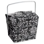 "2 1/2"" x 2"" x 2 3/4"" Damask Event Boxes, Black"