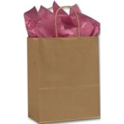 """Lindsey Recycled Paper Shoppers, 10"""" x 5"""" x 13"""", Kraft, 250/Pack"""