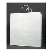 "Kraft Paper 19""H x 18""W x 7""D Shopping Bags, White, 200/Pack"
