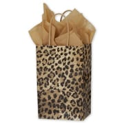 "5 1/4"" x 3 1/2"" x 8 1/4"" Leopard Printed Shoppers, Yellow/Brown/Black"