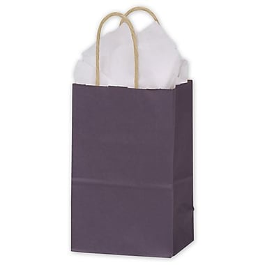 Sacs de magasinage en kraft coloré, 5 1/4 x 3 1/2 x 8 1/4 (po), prune, 250/paquet