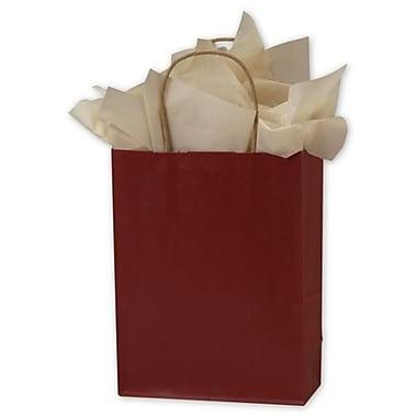 Sacs de magasinage en kraft coloré, 8 1/4 x 4 1/4 x 10 3/4 (po), rouge, 250/paquet