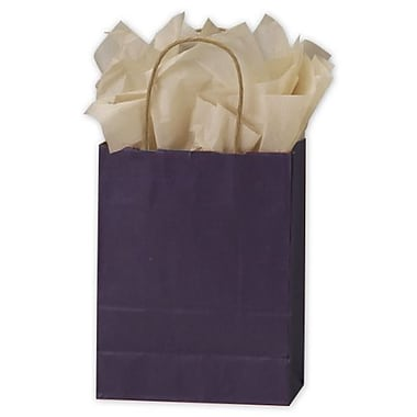 "Colour on Kraft Shoppers, 8 1/4"" W x 4 3/4"" D x 10 1/2"" H, Plum, 250/Pack"