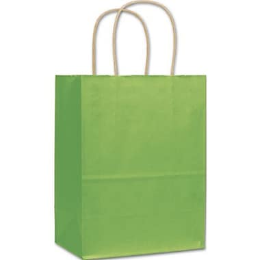Sacs de magasinage vernis à bandes, 8 1/4 x 4 3/4 x 10 1/2 po, pommes vertes, 250/paquet