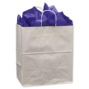 "Kraft Paper 16.25""H x 14""W x 9.5""D Shopping Bags, White, 200/Pack"