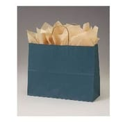 "Paper 12.5""H x 16""W x 6""D Euro-Shopping Bags, Teal, 250/Pack"