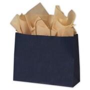 """Paper 12.5""""H x 16""""W x 6""""D Euro-Shopping Bags, Dark Blue, 250/Pack"""