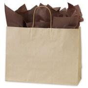 "Bags & Bows® 16"" x 6"" x 12 1/2"" Oatmeal Shoppers, Kraft, 250/Pack"