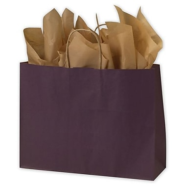 Sacs kraft en couleur, 16 x 6 x 12 1/2 po, prune, 250/paquet