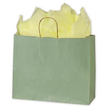 Sacs de magasinage à rayures vernis, 16 x 6 x 12 1/2 po, sauge, 250/paquet