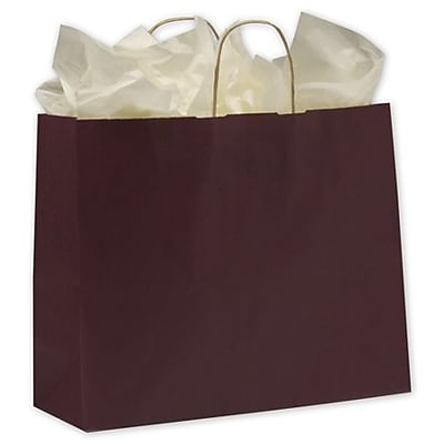 "16"" x 6"" x 12 1/2"" Varnish Stripe Shoppers, Grape"