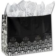 """Paper 12.5""""H x 16""""W x 6""""D Versailles Shopper Bags, Multicolor, 100/Pack"""