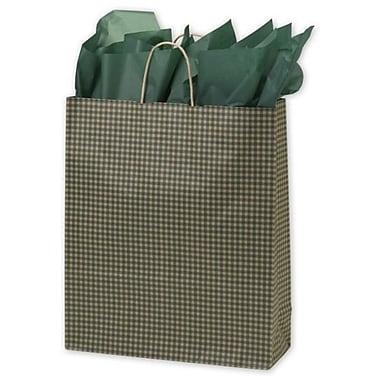 Sacs vichy, 16 x 6 x 19 po, vert, 200/paquet