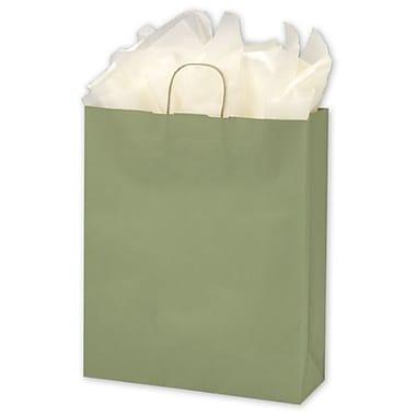 Sacs de magasinage vernis à bandes, 16 x 6 x 19 po, kaki, 200/paquet
