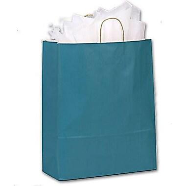 Sacs de magasinage vernis à bandes, 16 x 6 x 19 po, paon, 200/paquet