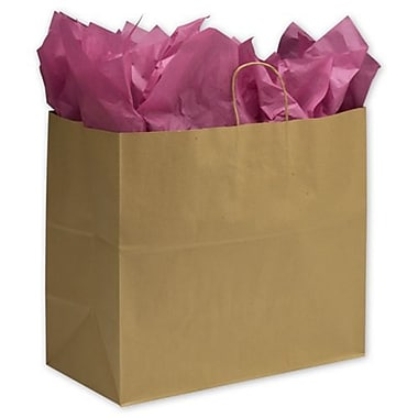 Bags & Bows Extra Jumbo Paper Shoppers, Kraft, 125/Pack