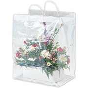 "Bags & Bows® 15"" x 11"" x 19"" Floral Packaging Bags, Clear, 100/Pack"