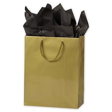 Sac Euro-Shopper laminé glacé 8 x 4 x 10 po, doré, 200/paquet