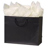 """Paper 10""""H x 13""""W x 5""""D Euro-Shopper Bags, Black, 100/Pack (244M-130510-12M)"""