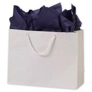 "Paper 10""H x 13""W x 5""D Euro-Shopper Bags, White, 100/Pack"