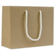 """Bags & Bows® 9"""" x 3 1/2"""" x 7"""" Recycled Groove Euro-Shoppers, Kraft, 200/Pack"""