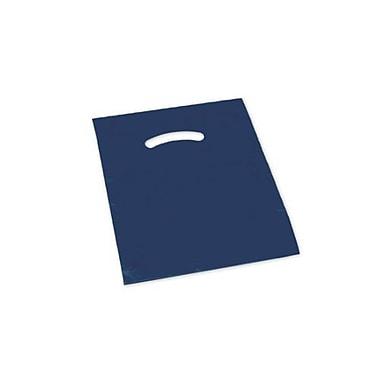 Sacs avec poignée découpée, 9 x 12 po, bleu marine, 1000/paquet