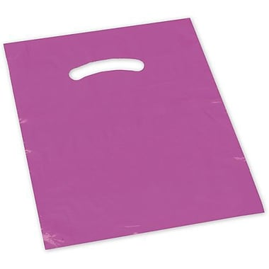 Die Cut Handle Lo-Density Poly Bag, 17