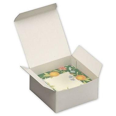 Boîtes-cadeaux monoblocs, 2 x 4 x 4 (po), blanc, 100/paquet
