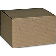 """Bags & Bows® 3"""" x 5"""" x 5"""" One-Piece Gift Boxes, Kraft, 100/Pack"""