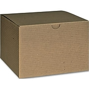 """Bags & Bows® 4"""" x 6"""" x 6"""" One-Piece Gift Boxes, Kraft, 100/Pack"""