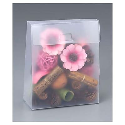 """""6 1/2"""""""" x 2 7/8"""""""" x 7 7/8"""""""" Frosted Gusset Boxes, Clear"""""" 79788"