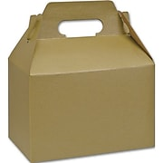 "Kraft Paper 5.25""H x 4.88""W x 8""L Gable Boxes, Gold, 100/Pack"