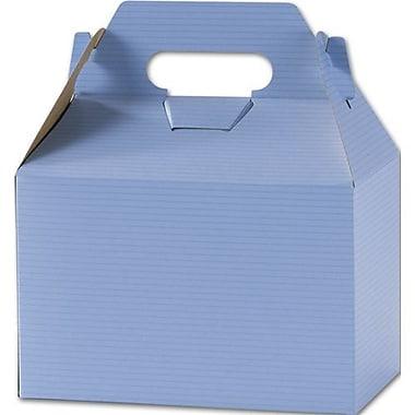 Boîtes à pignon vernies à rayures, 5 1/4 x 4 7/8 x 8 (po), bleu français, paq./100