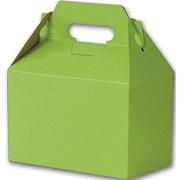 "Kraft Paper 5.25""H x 4.88""W x 8""L Varnish Striped Gable Boxes, Apple Green, 100/Pack"