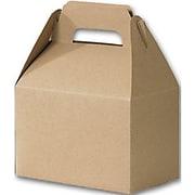 "Kraft Paper 5.25""H x 4.88""W x 8""L Gable Boxes, Natural, 100/Pack"