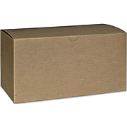 "Bags & Bows® 4 1/2"" x 4 1/2"" x 9"" One-Piece Gift Boxes, Kraft, 100/Pack"