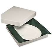 "Bags & Bows® 14"" x 14"" x 2"" Two-Piece Gift Boxes, White, 50/Pack"